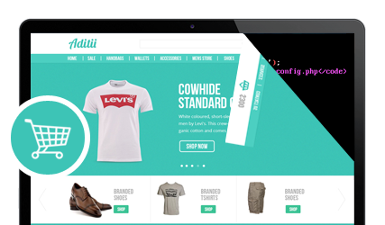 E commerce website with corporate designs